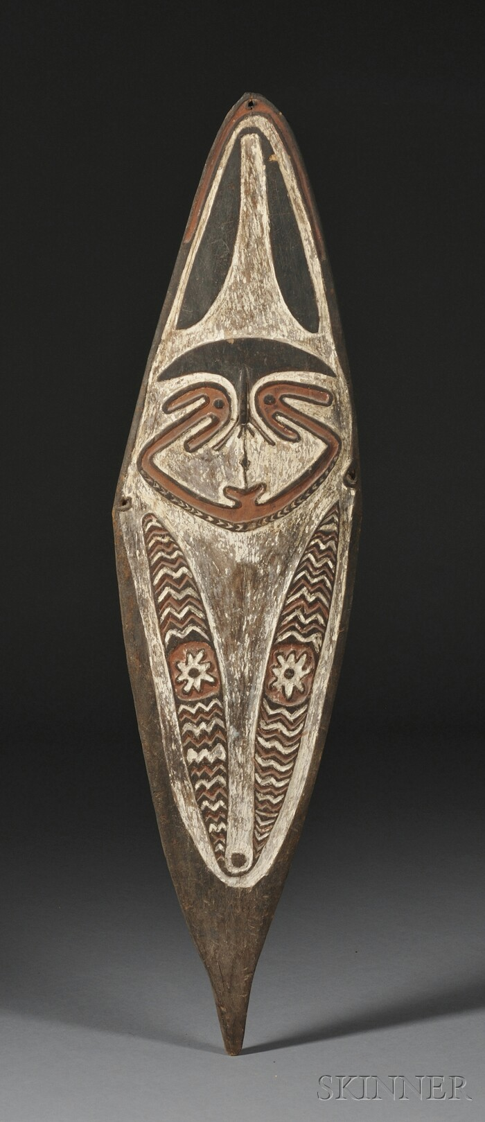New Guinea Painted Carved Wood Spirit Board
