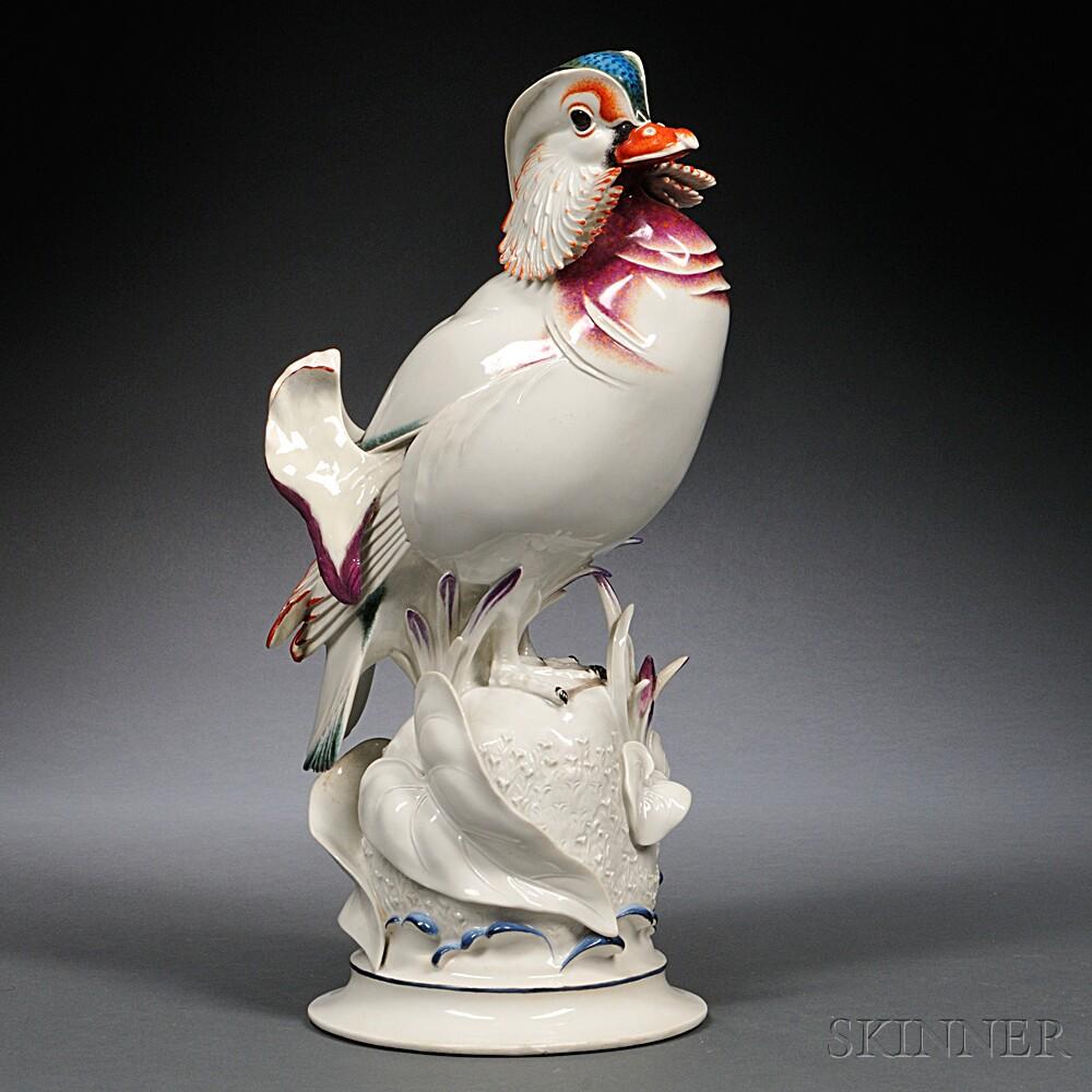 Meissen Porcelain Figure of a Mandarin Duck