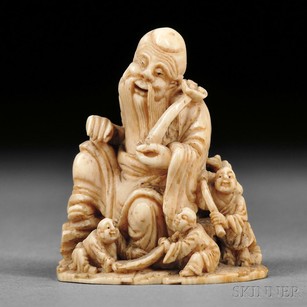 Ivory Carving of Fukurokujin