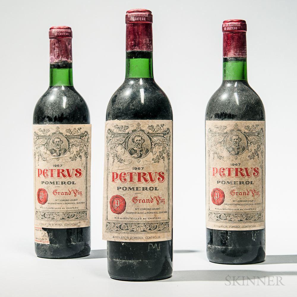 Chateau Petrus 1967, 3 bottles