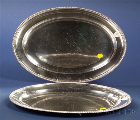 Pair of George V Silver Oval Platters