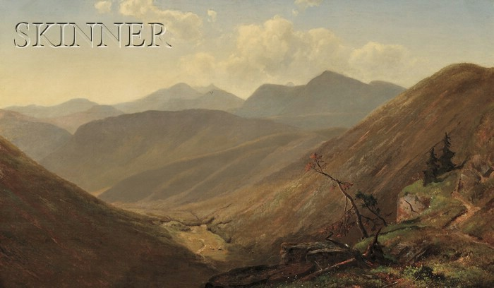 William Sheridan Young (American, fl. 1866-1876)      Blue Ridge Mountains