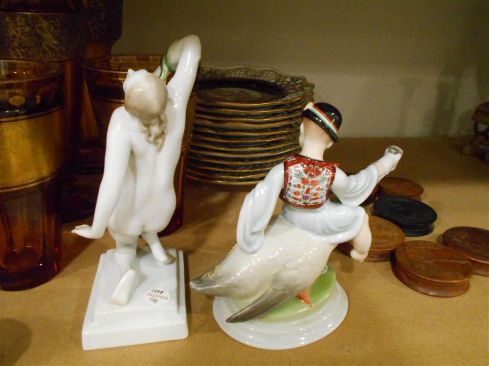 Two Herend Porcelain Figures