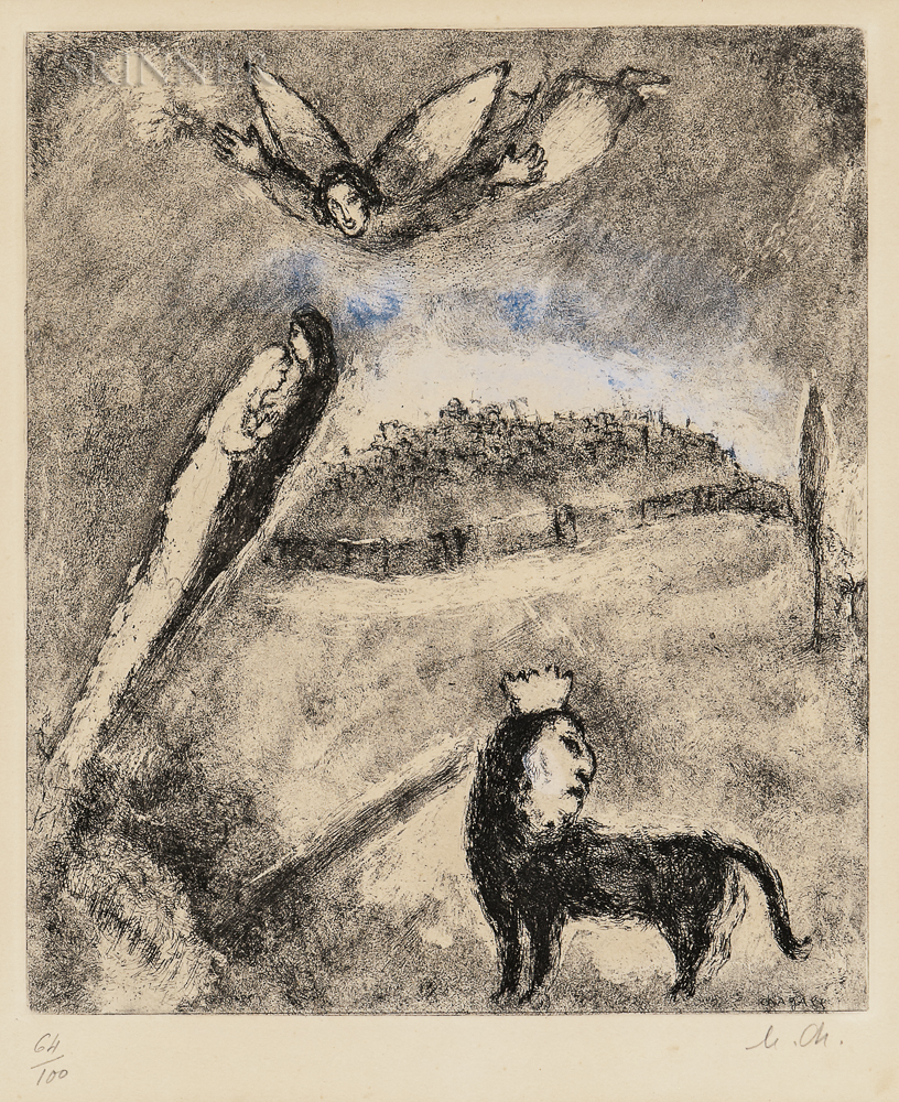 Marc Chagall (Russian/French, 1887-1985)      Salvation for Jerusalem