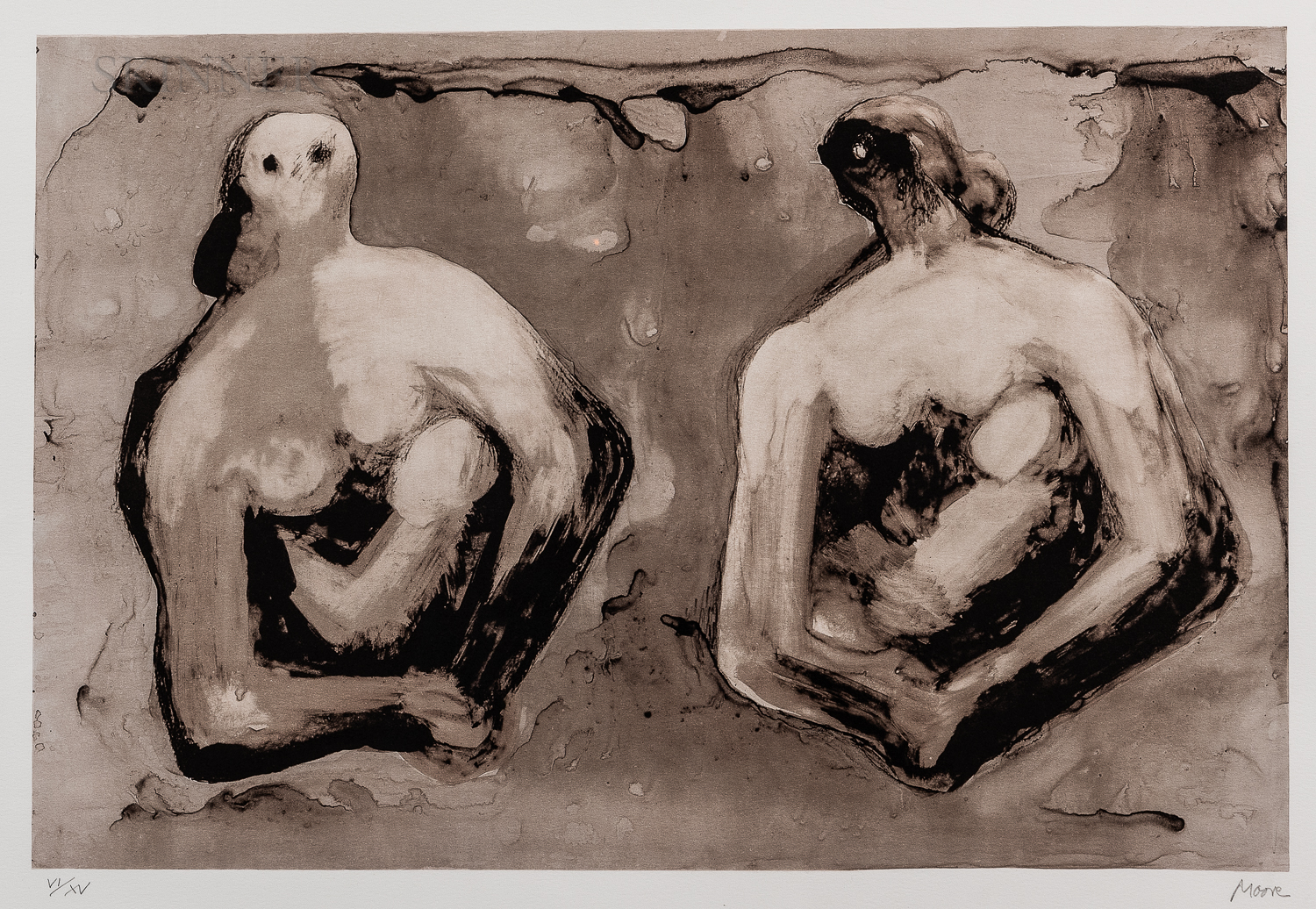 Henry Moore (British, 1898-1986)      Sisters with Children