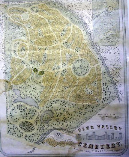 Glen Valley Cemetery, Barre, Massachusetts Lithograph