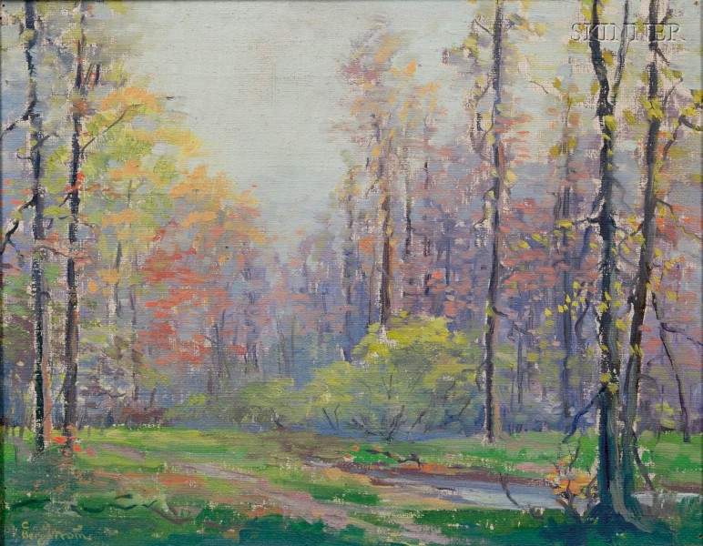 Charles Johan Bergstrom (American, 1879-1955)      Spring Forest