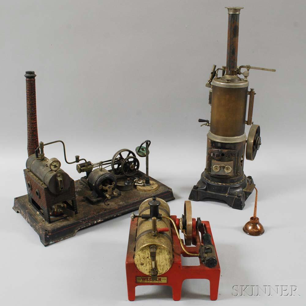 Three Model Steam Engines
