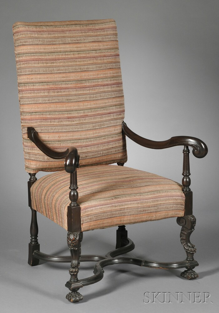 Carved and Upholstered Great Chair