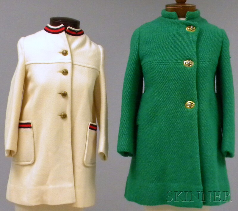 Two Vintage European-style Girl's Wool Coats.     Estimate $50-100