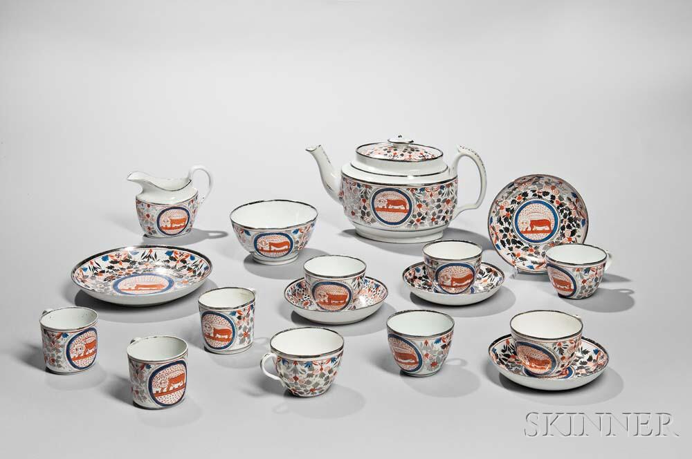 Silver Lusterware Tea Set