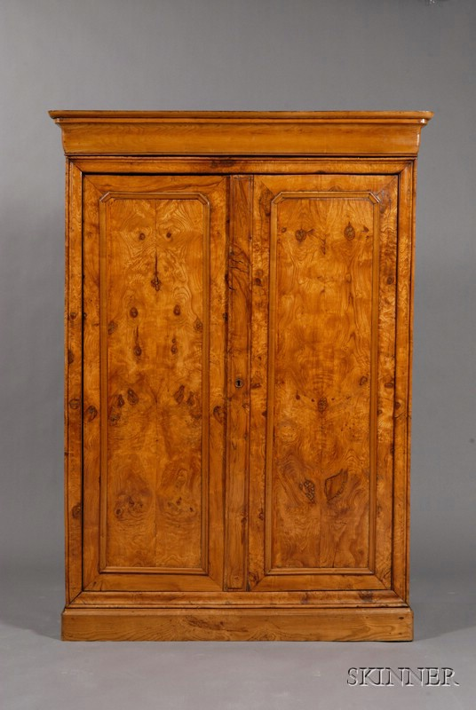 French Provincial Elmwood Armoire