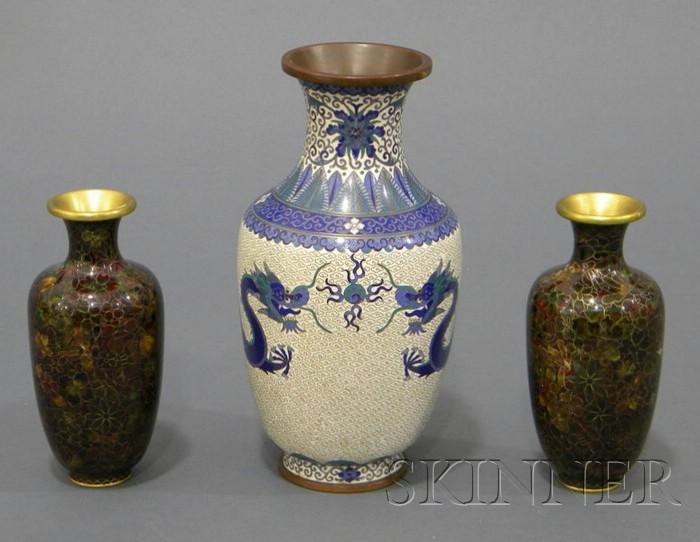 Three Cloisonne Vases