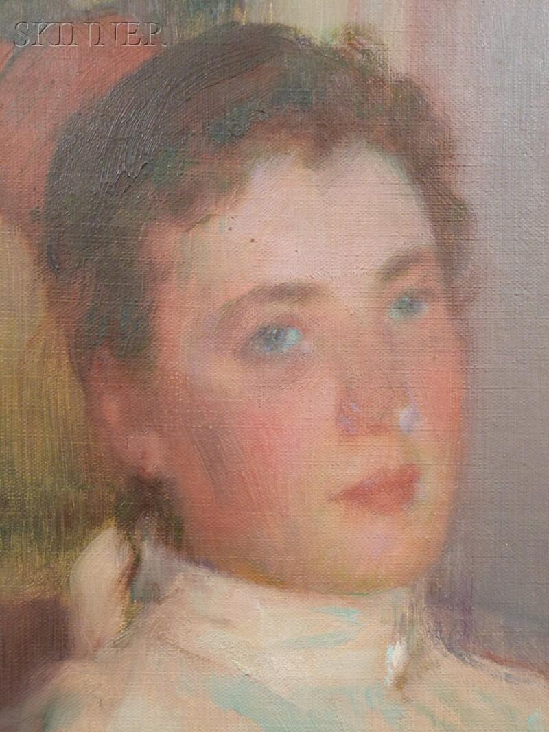 Robert William Vonnoh (American, 1858-1933)      Girl from the North