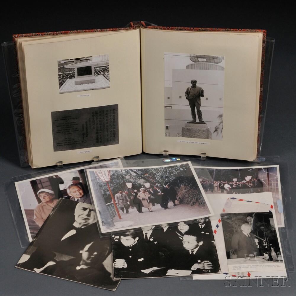 Edison, Thomas Alva (1847-1931)   Scrapbook Related to the Dedication of a Memorial Statue in Kyoto, Japan, 1966.