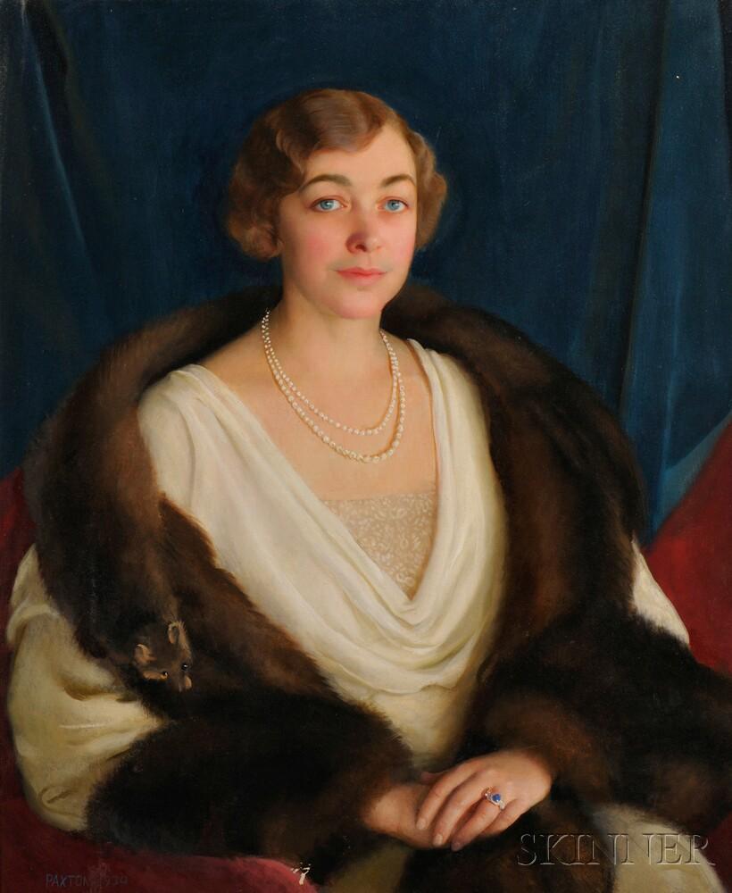 William McGregor Paxton (American, 1869-1941)      Portrait of Deborah Norris (Brock) Bent