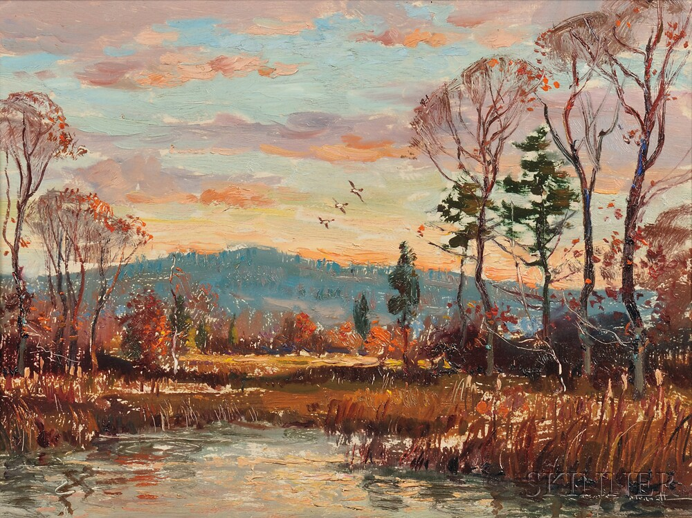 Wayne Beam Morrell (American, 1923-2103)      Marsh Sunset