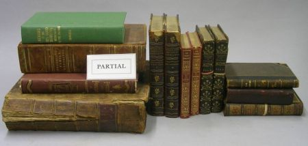 Set of Twenty-two Gilt Leatherbound Beaux and Belles of England and Twenty- two Assorted Mostly 19th Century Leatherbound Books.
