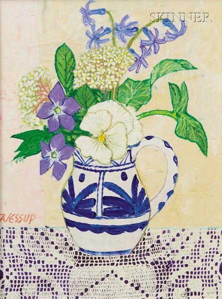 Frederick Arthur Jessup (Australian/American, b. 1920)      Still Life with Flowers
