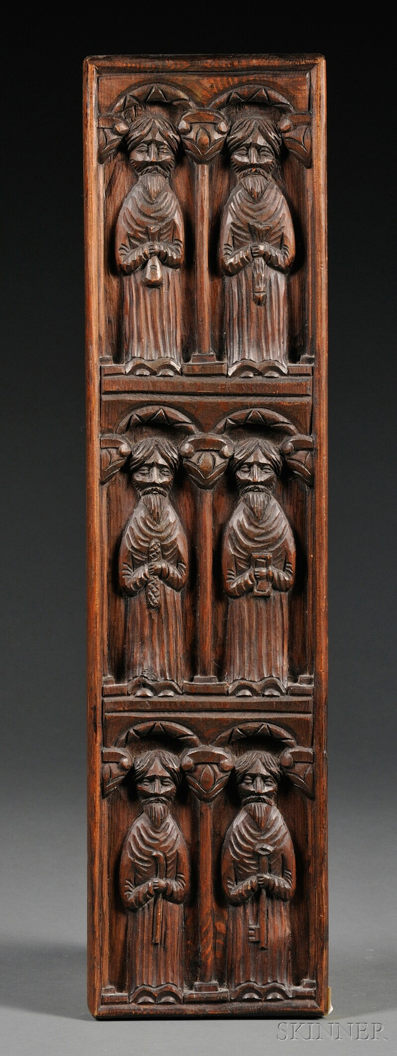 Relief-carved Wood Wall Plaque