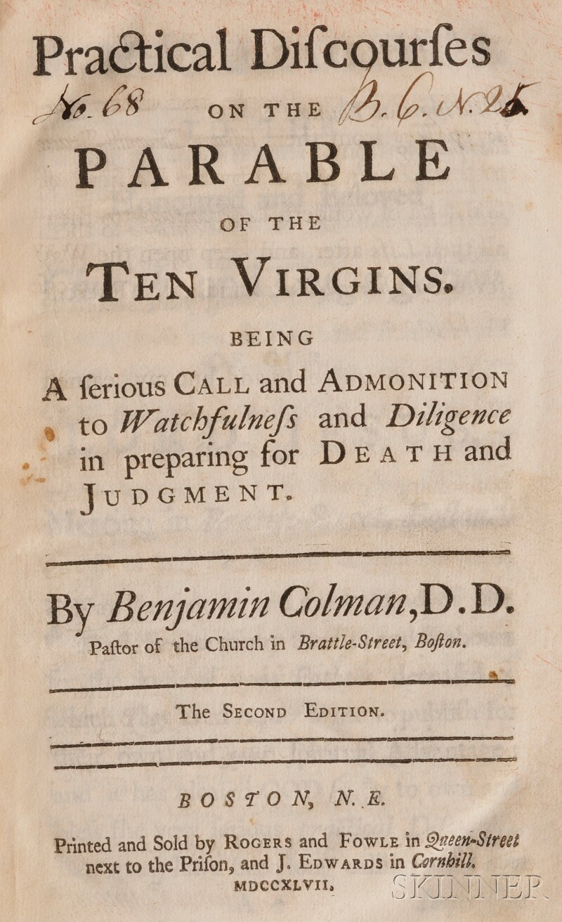 (Pepperell, Sir William (1696-1759), His copy, Signed