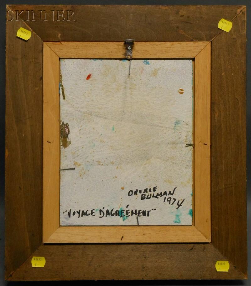 Orville Bulman (American, 1904-1978)      Voyage d'Agreement