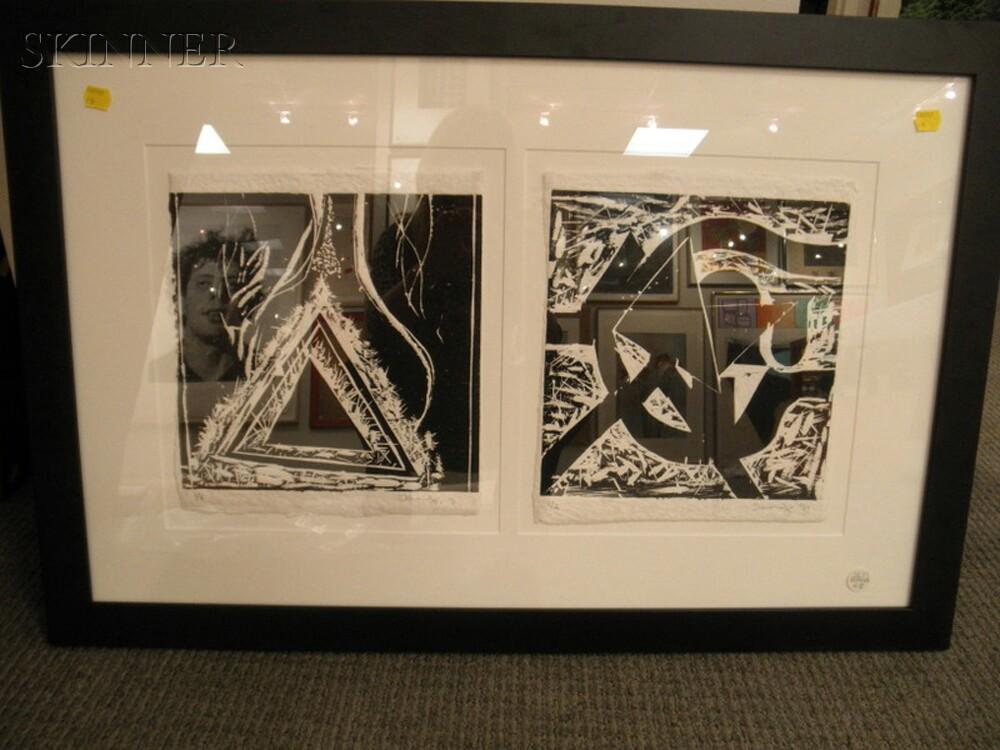 Dimitri Hadzi (American, 1921-2006)      Two Works: W12   (Concentric Triangles)
