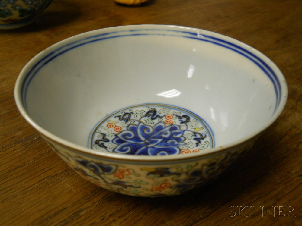 Two Polychrome Porcelain Bowls