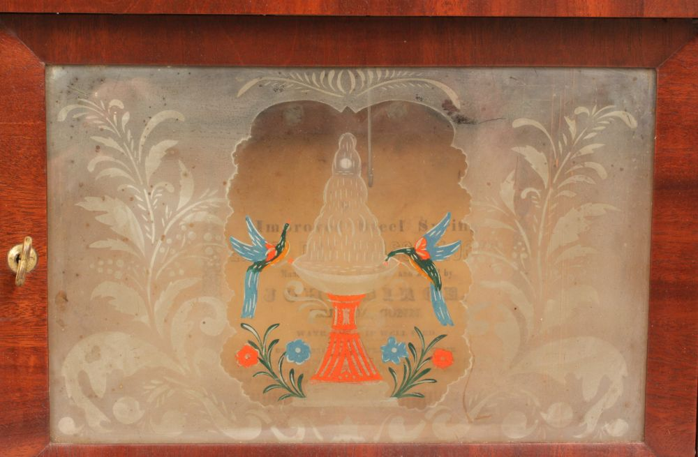 John Birge Mahogany Double Steeple Fusee Shelf Clock