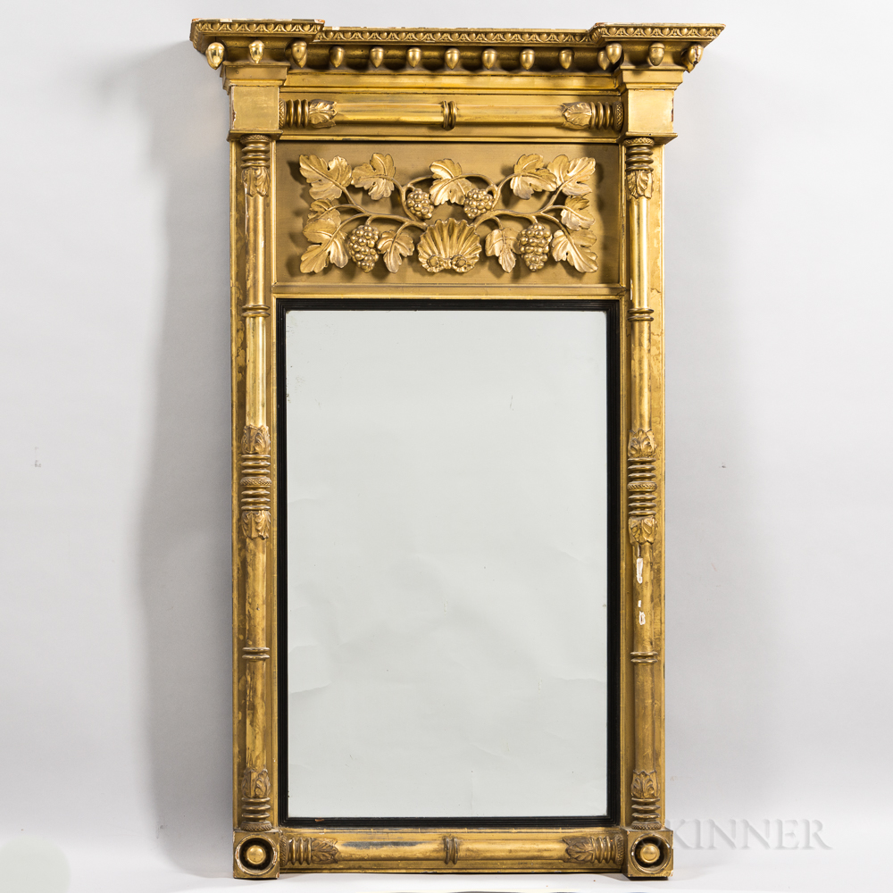 Large Gilt-gesso Mirror