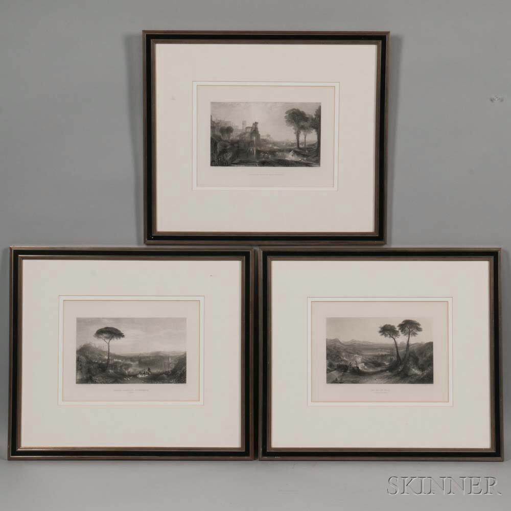 Joseph Mallord William Turner (British, 1775-1851), Three Views: The Bay of Baiae (Apollo and the Sibyl), Childe Harolds Pilgrimage (I