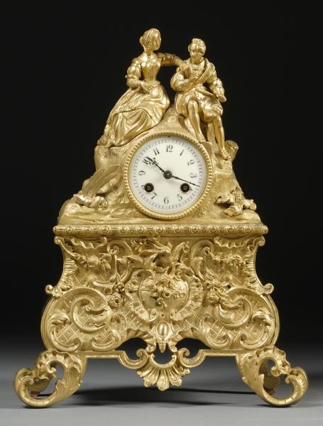 Second Empire Figural Bronze Mantel Clock