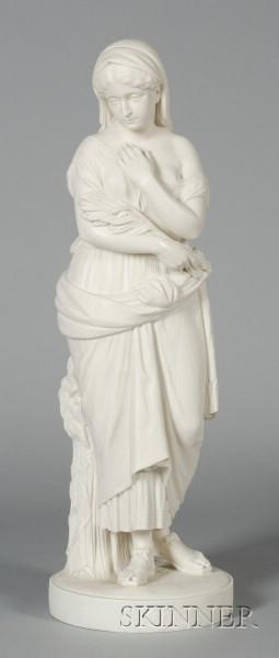 Large Copeland Parian Figure of Ruth