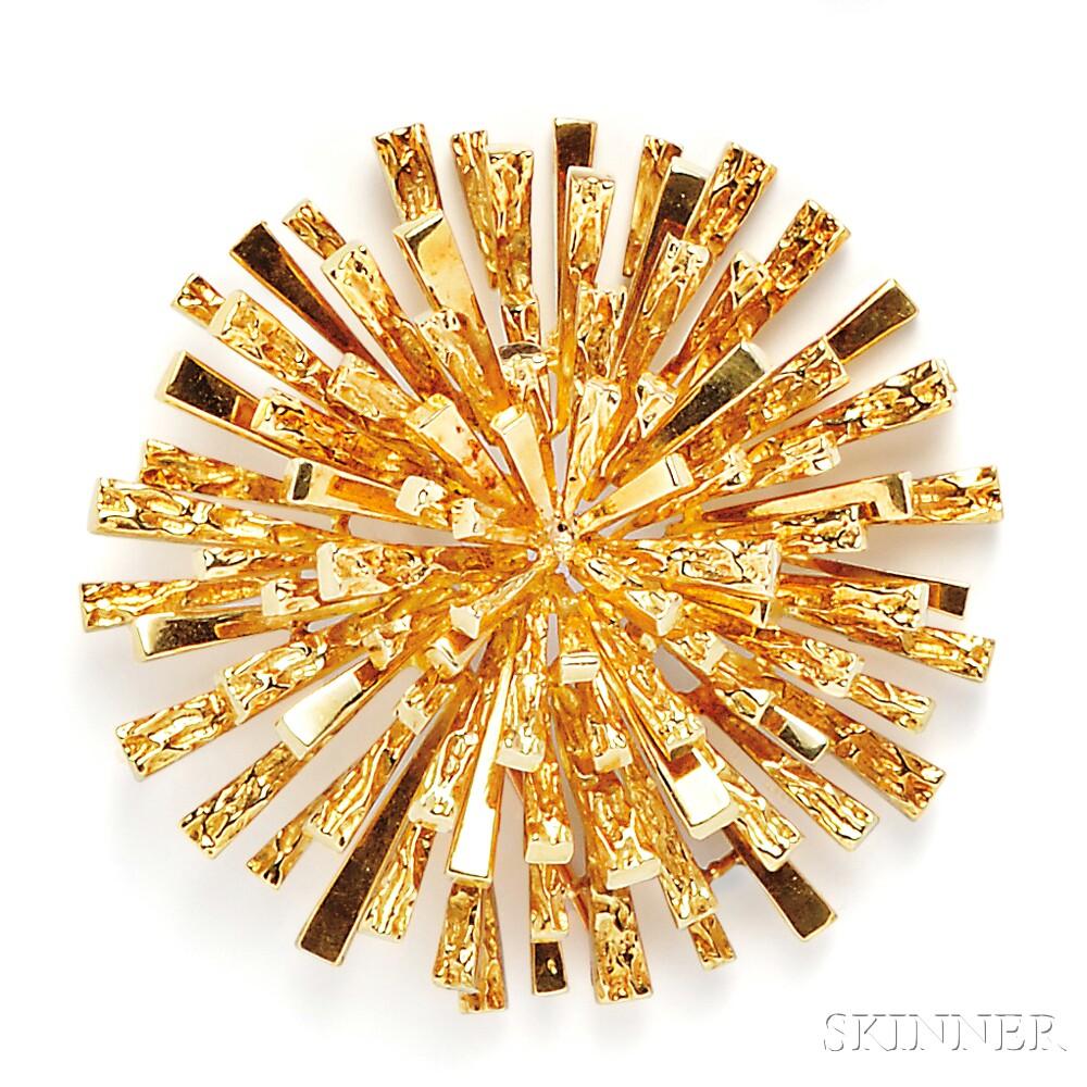 18kt Gold Starburst Pendant/Brooch, Tiffany & Co.