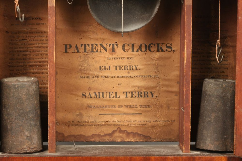 Samuel Terry Stenciled Transitional Shelf Clock