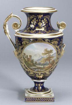 Derby Porcelain Scenic Vase