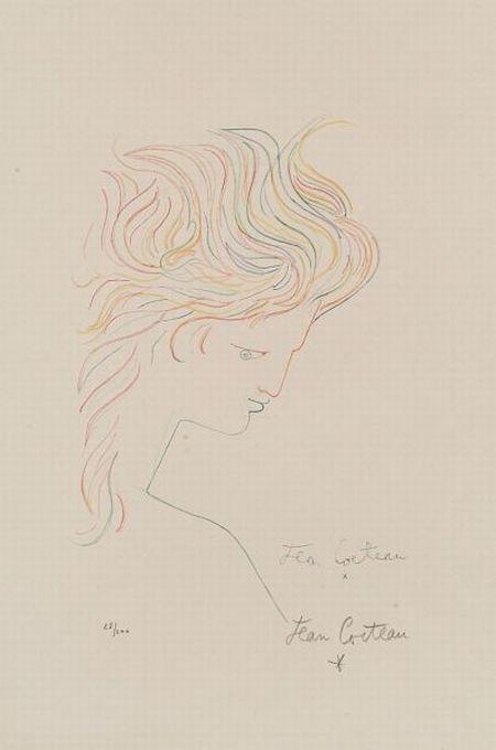 Jean Cocteau (French, 1889-1963)  Tete en Profil