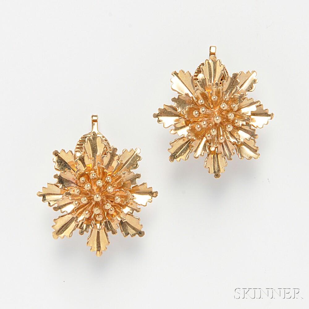 14kt Gold Earclips, Tiffany & Co.