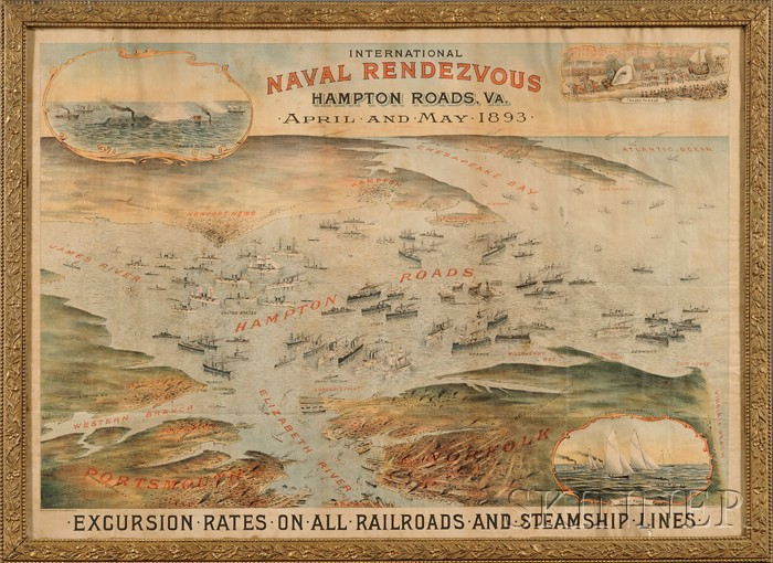 Sam W. Bowman, lithographer (Norfolk, Virginia, Late 19th Century) International Naval Rendezvous, Hampton Roads, Va., April and May...