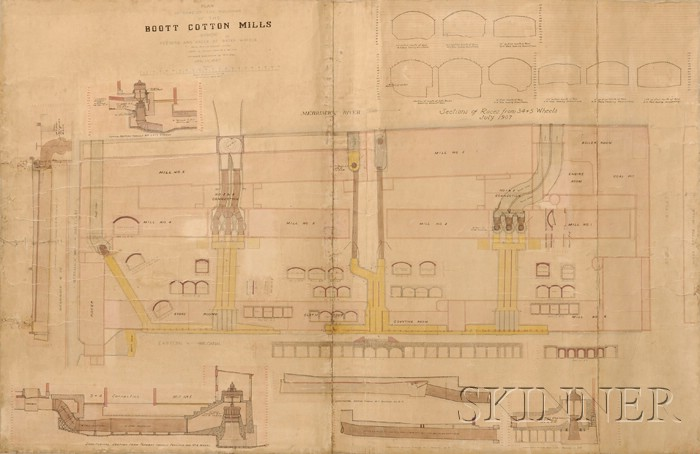 Archictectural Plan of the Boot Cotton Mills