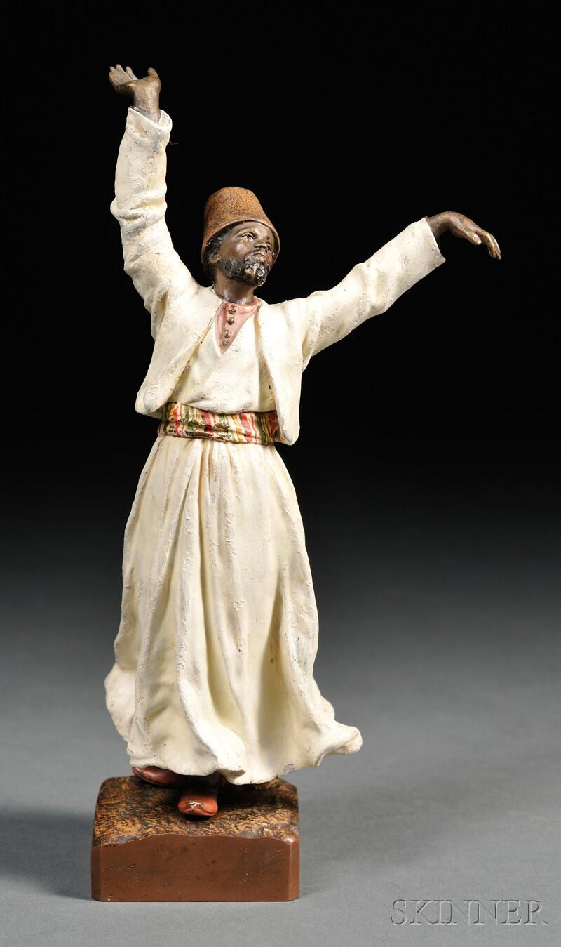 Franz Bergman Cold-painted Bronze Figure of a Dervish
