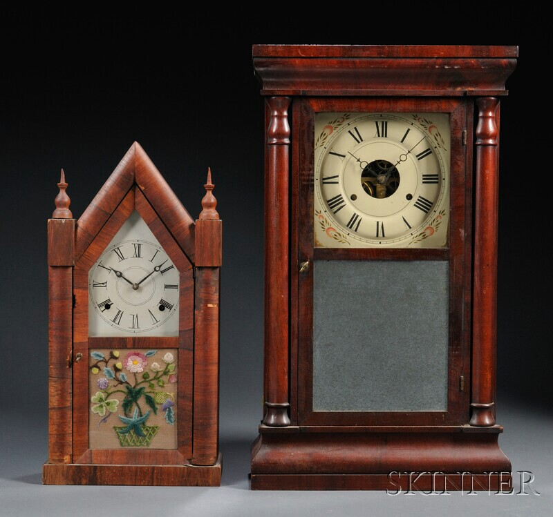 Two Connecticut Shelf Clocks