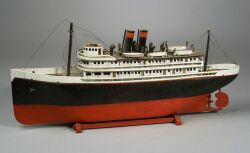 Folk Art Model Of An Ocean Liner