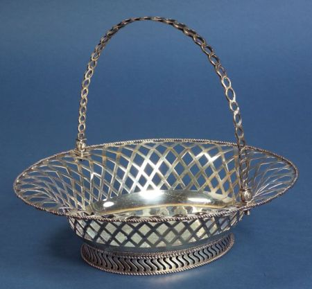 Georgian Irish Silver Fruit Basket