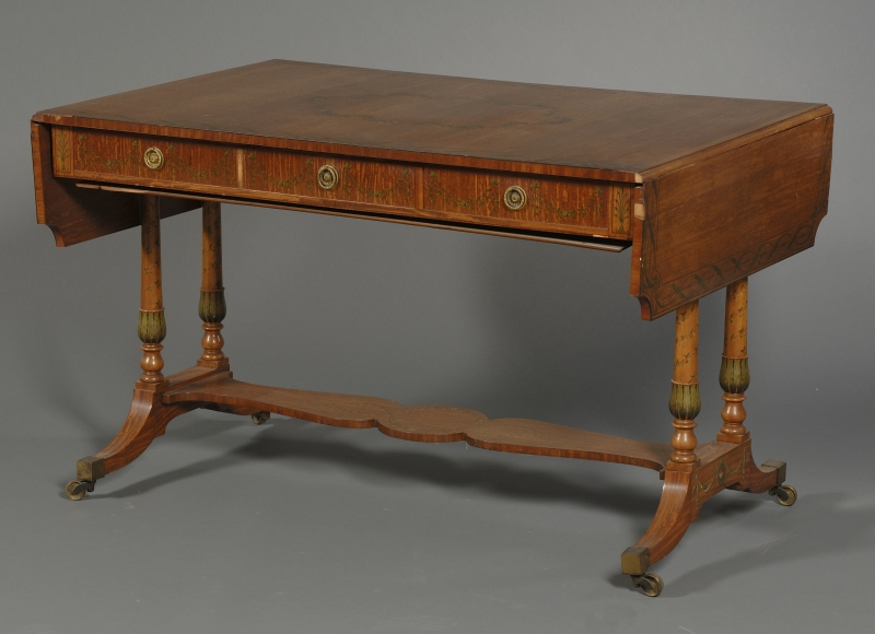 Edwardian Painted Satinwood Sofa Table