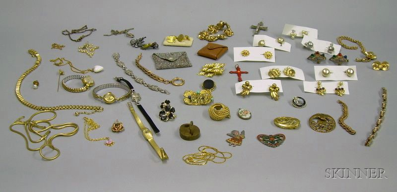 Assorted Estate and Costume Jewelry and Watches