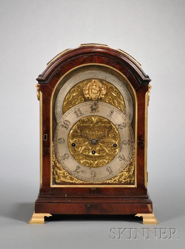George III Mahogany and Ormolu Musical Bracket Clock