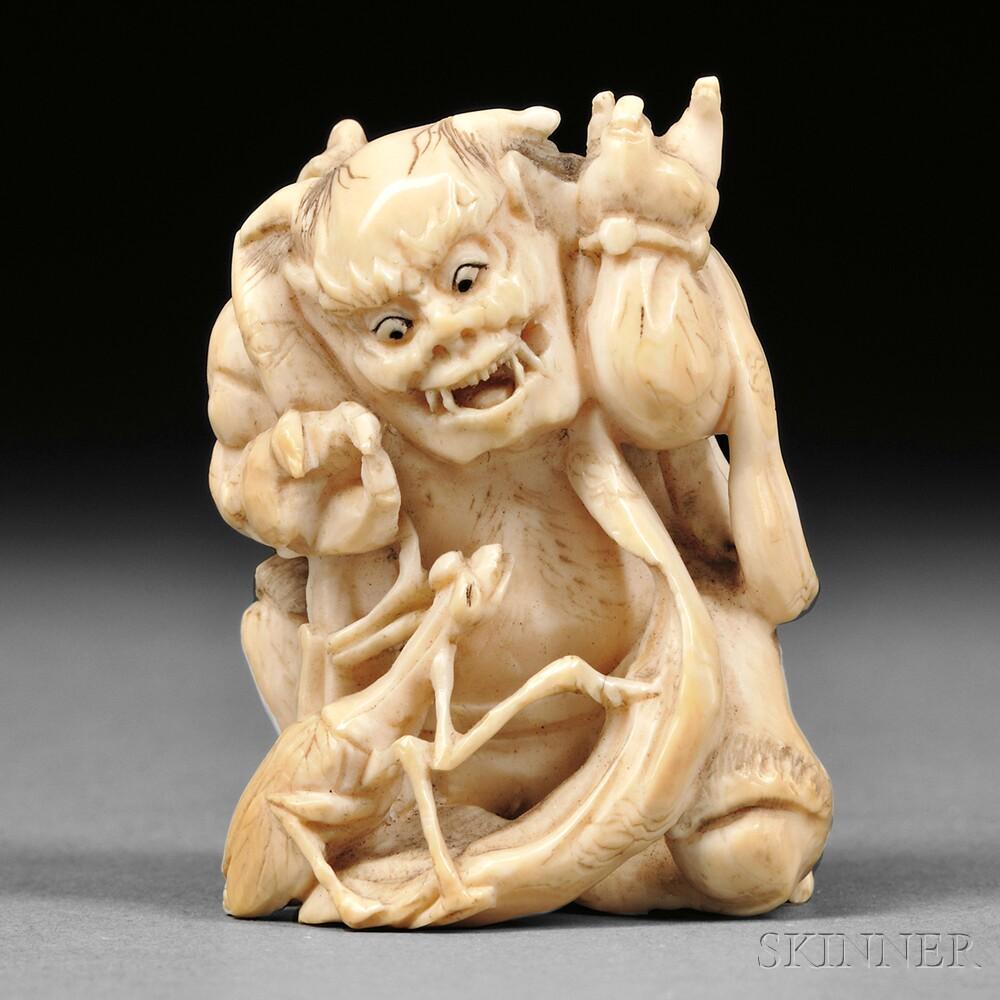 Ivory Netsuke of Yokai