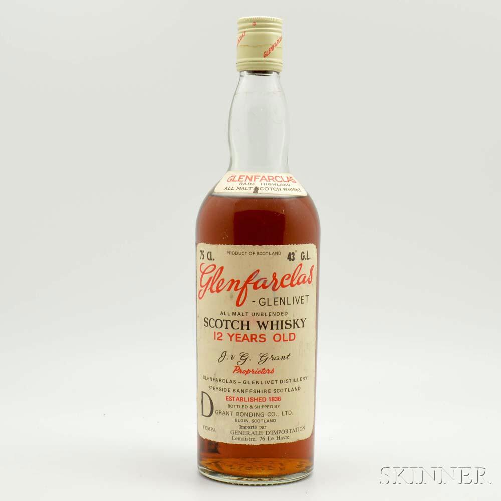 Glenfarclas-Glenlivet 12 Years Old, 1 750ml bottle