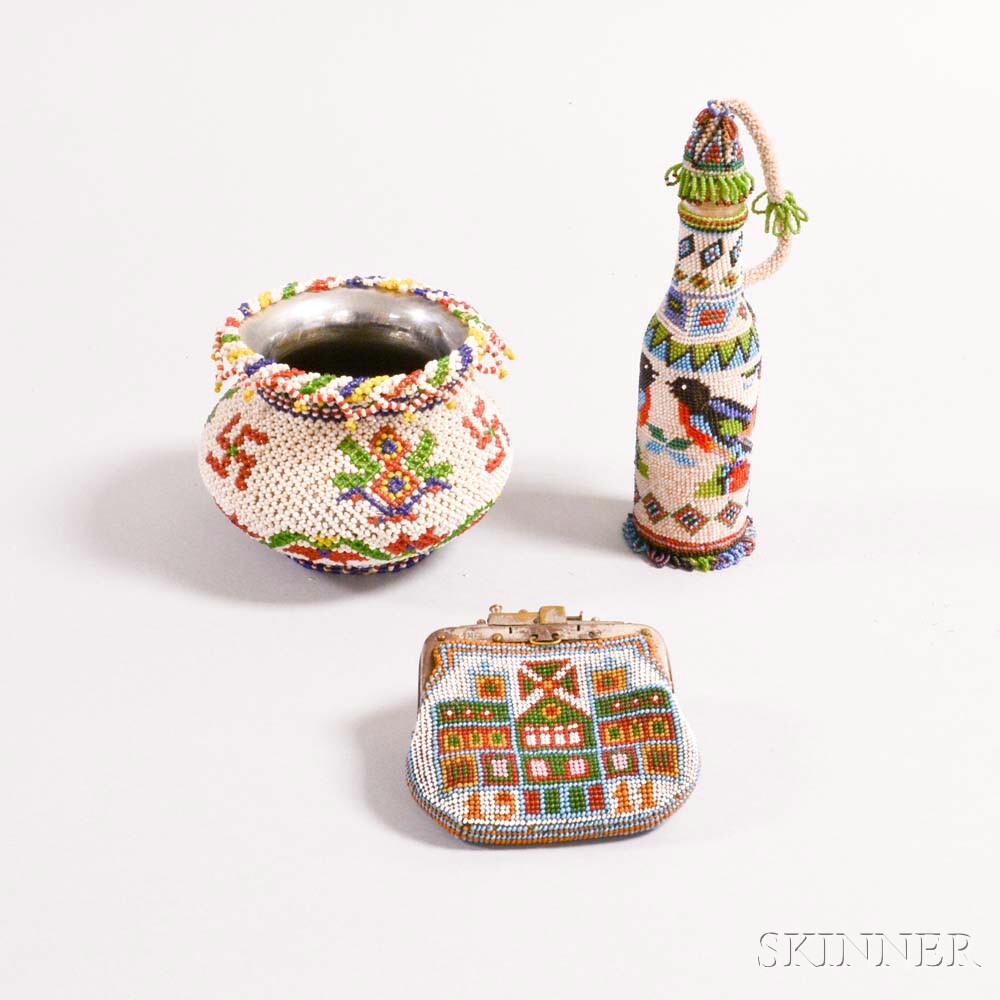 Three Foreign Beaded Items